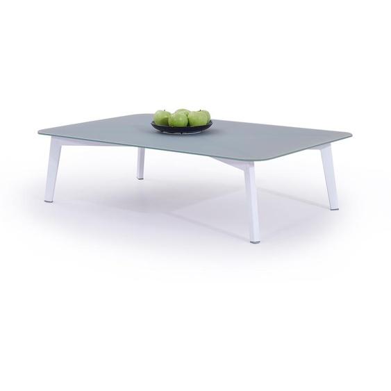 Aluminium Gartentisch in Weiß - Tisch Diva 118 cm