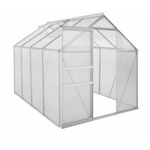 Zelsius Aluminium Gewächshaus 250 x 190 cm, 4 mm Platten, 4,75m²