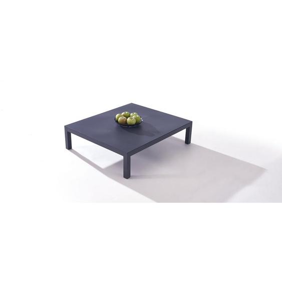 Aluminium Lounge Modul in Anthrazit - Plaza Tisch 78 cm - anthrazit