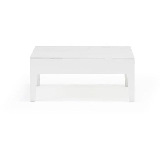 Aluminium Loungetisch in Weiß - Tisch Glas Alea