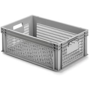 Alutec Kunststoffbehälter vergittert 60 x 22 x 40 cm grau