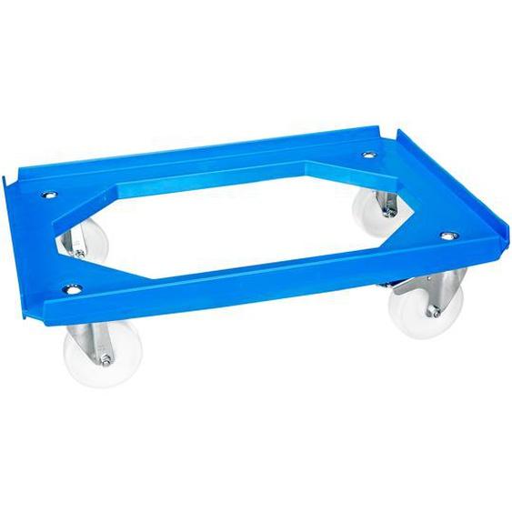 Alutec Rollwagen für Eurobehälter blau, zwei Feststellbremsen