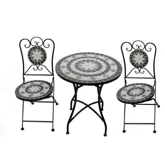 Ambia Garden Balkonset , Weiß , Metall, Keramik