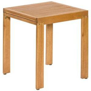 Ambia Garden: Tisch, Eukalyptusholz, Natur, B/H/T 65 77,5 65(130)