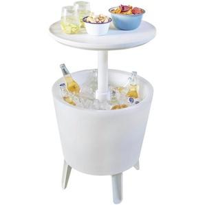 Ambia Garden: Tisch, Weiß, B/H/T 57-84,5 49,5 49,5