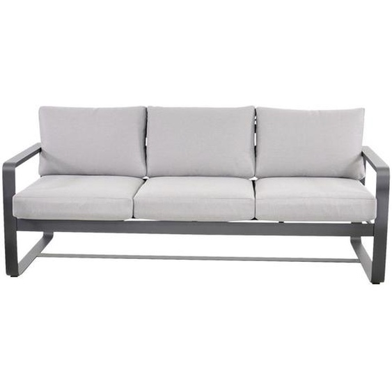 Ambia Garden Gartenbank Grau , Metall, Textil , 3-Sitzer , 194x78x73 cm