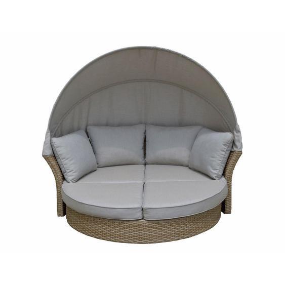Ambia Garden Gartenmuschel Braun, Beige Kunststoffgeflecht Aluminium , Metall, Kunststoff, Textil , 193x75x167 cm