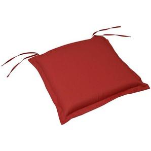 Ambia Garden Gartensitzkissenset , Rot , Textil , 50x8-9x50 cm