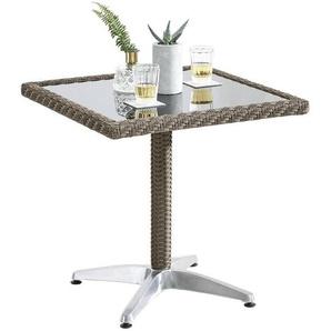Ambia Garden: Tisch, Grau, Schwarz, B/H/T 70 70 70
