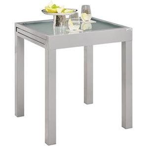 Ambia Garden: Tisch, Silber, B/H/T 70(140) 70 75