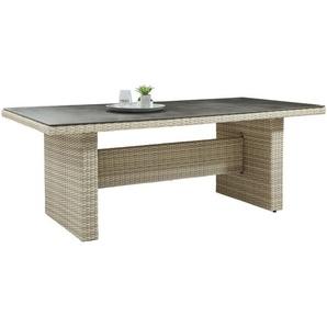 Ambia Garden: Tisch, Braun, Beige, B/H/T 100 74,5 200