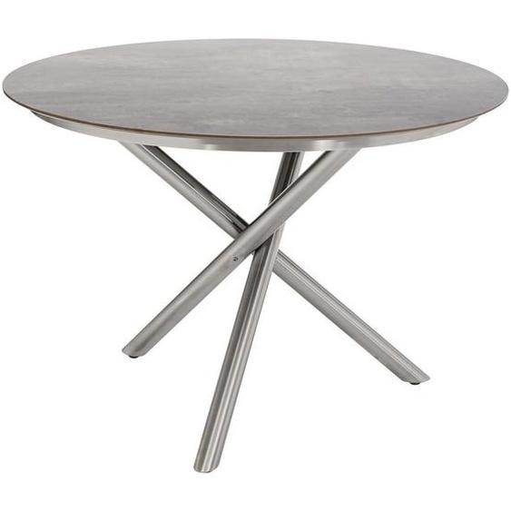 Ambia Garden Gartentisch Metall, Kunststoff Silber , 110x75 cm
