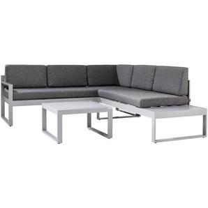 Ambia Garden: Loungegarnitur, Grau, Silber