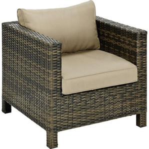 Ambia Garden: Loungesessel, Braun, Taupe, B/H/T 79 63,7 75