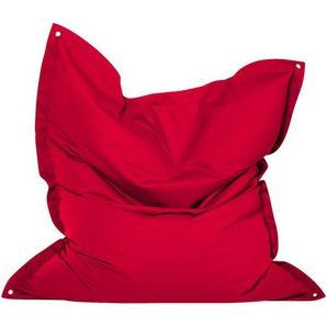 Ambia Garden Outdoorsitzsack , Rot , Kunststoff , Uni , 380 L , 160x20x50 cm