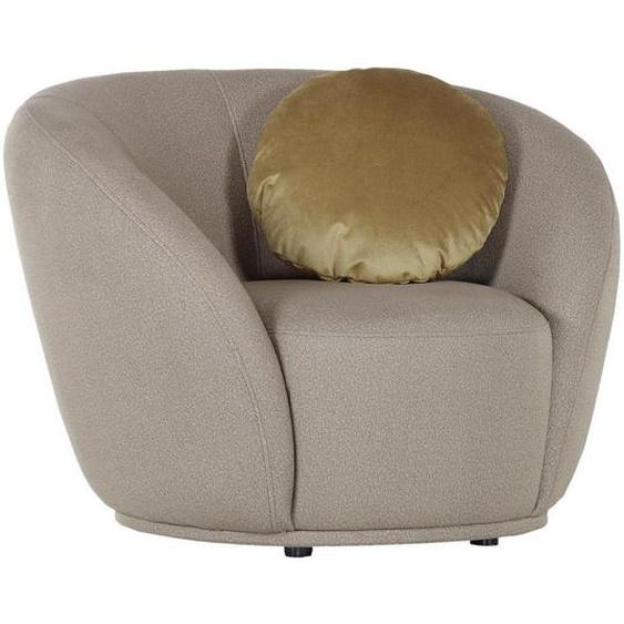 Ambia Home Sessel Flachgewebe Gold , Textil , 105x78x90 cm