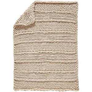 Ambia Home Tagesdecke , Beige , Textil , Uni , 127x152 cm