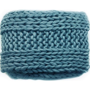 Ambia Home Tagesdecke , Blau , Textil , Uni , 127x152 cm