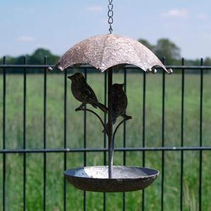 Ambiente Haus Vogeltränke Einheitsgröße grau Vogelhäuser Vogeltränken Gartendekoration Gartenmöbel Gartendeko