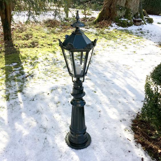 Ambientelampe im Antiklook - Gartenleuchte Nostalgie Aussenleuchte - H.98 cm