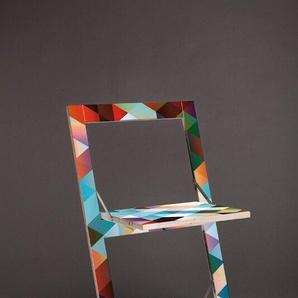 Ambivalenz - Fläpps Klappstuhl - Criss Cross Rot - beidseitig bedruckt - indoor