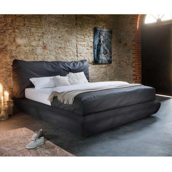 Amerikanisches Bett in Anthrazit Kunstleder modern