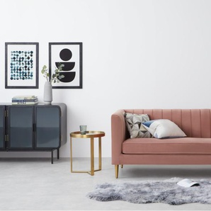 Amicie 2-Sitzer Sofa, Samt in Zartrosa