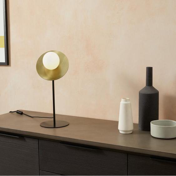 Amira Tischlampe, Milchglas und Messing