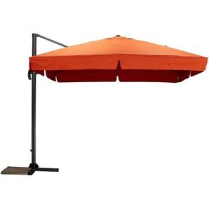 Ampelschirm  Teneriffa ¦ orange ¦ Maße (cm): B: 300 H: 273 Gartenmöbel  Sonnenschirme » Höffner
