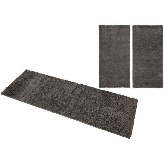 andas Bettumrandung Saron, Höhe 35mm B/L (Brücke): 70 cm x 140 (2 St.) (Läufer): 270 (1 St.), rechteckig grau Bettumrandungen Läufer Teppiche