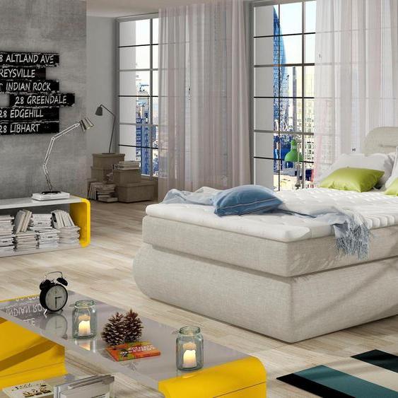 andas  Boxspring-Betten , beige »Pula« mit Bettkasten»Pula«