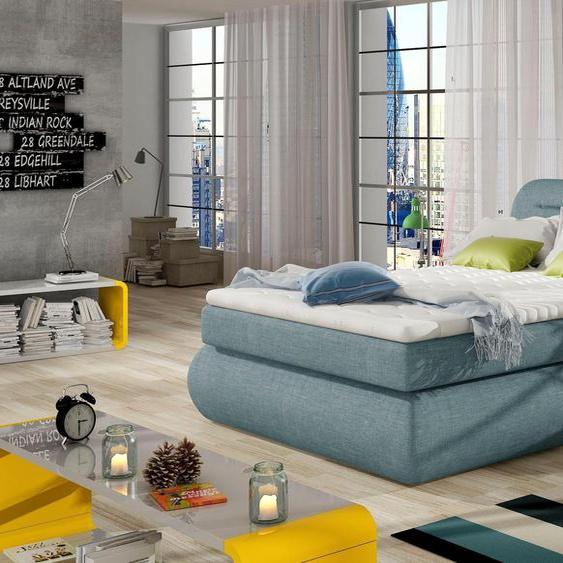 andas  Boxspring-Betten , blau »Pula« mit Bettkasten»Pula«