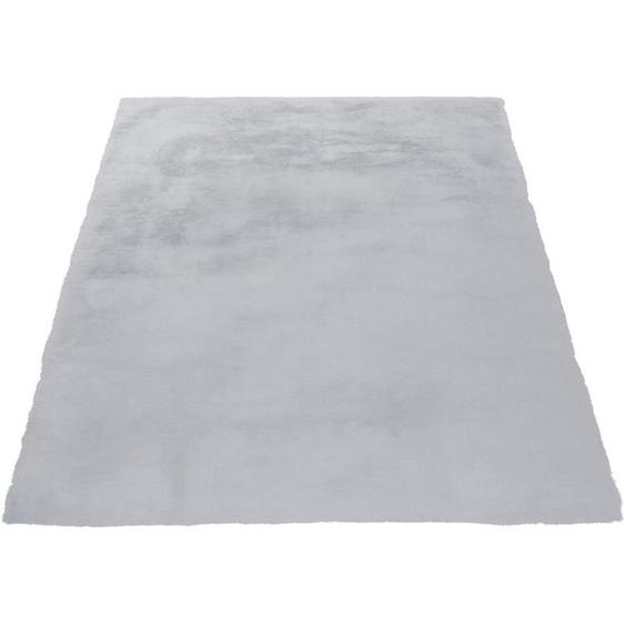 andas Fellteppich Alvin, rechteckig, 45 mm Höhe, Kaninchenfell-Optik und Haptik, Kunstfell, Wohnzimmer B/L: 160 cm x 230 cm, 1 St. grau Wohnzimmerteppiche Teppiche nach Räumen