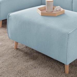 andas Hocker Janek 0, Struktur fein blau Polsterhocker Sessel und Sofas Couches
