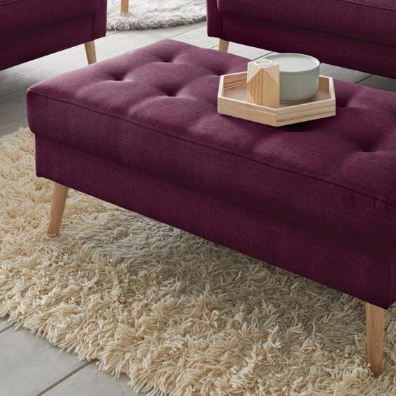 andas Hocker Kiara Struktur fein lila Polsterhocker Nachhaltige Möbel