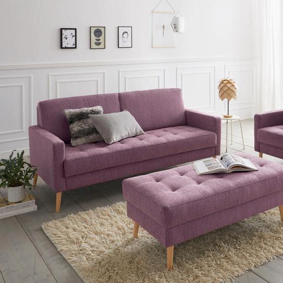 andas Hocker Kiara Struktur weich rot Polsterhocker Nachhaltige Möbel