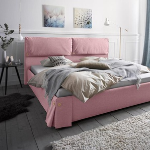 Andas Polsterbett »Tolna«, rosa, 200/200 cm