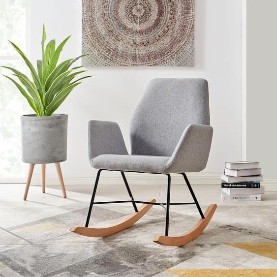 andas Schaukel-Stuhl »Cobo«, wählbar zwischen zwei schönen pflegeleichten Bezugsstoffen, in drei unterschiedlichen Farbvarianten, Sitzhöhe 47 cm