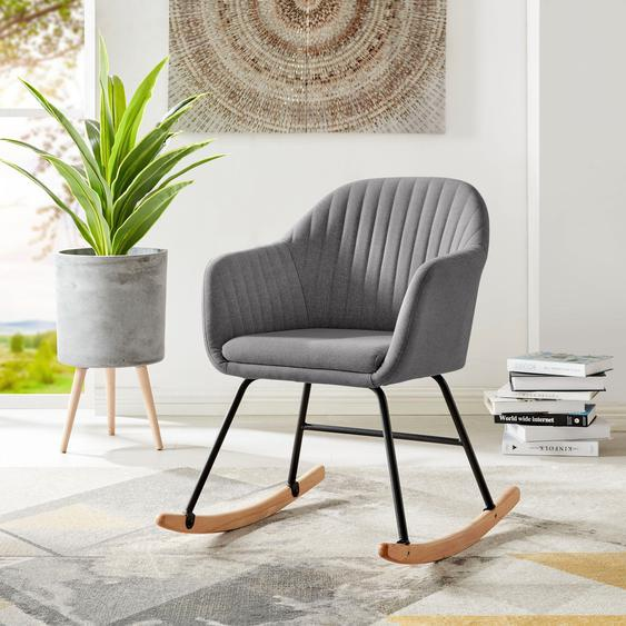 Schaukel-Stuhl »Naira«, 58x84x72 cm (BxHxT), andas, grau, Material Stoff, Holz, Polyester