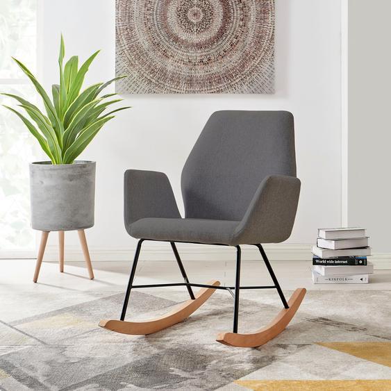 andas Schaukelstuhl »Cobo«, wählbar zwischen zwei schönen pflegeleichten Bezugsstoffen, in drei unterschiedlichen Farbvarianten, Sitzhöhe 47 cm