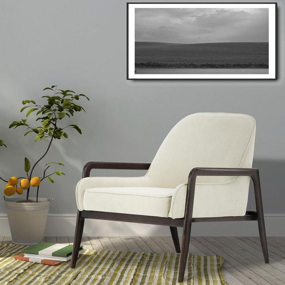 andas Sessel »Braga«, wahlweise mit Gestell aus Eiche in dunkel oder Buchenholz in hell