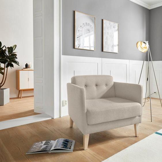 andas Sessel »Raadal«, in geradliniger skandinavischer Optik, mit Knopfheftung, Design by Morten Georgsen