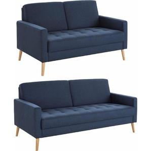 andas Sitzgruppe »Kiara«, (Set, 2-tlg), Steppung im Sitzbereich, Holzfüße