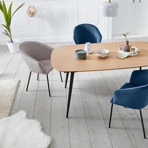 andas Stuhl »Angara« mit schönem Metallgestell und feinem, gemütlichen Velvetbezug, Sitzhöhe 47 cm