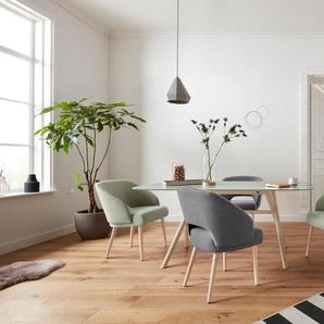 andas Esszimmerstuhl »Bech« mit schöner Polsterung im groben Strukturstoff, Design by Morten Georgsen