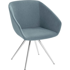 andas Stuhl Madison, mit Metallbein in klarem, zeitlosen Design Struktur fein grün Polsterstühle Stühle Sitzbänke