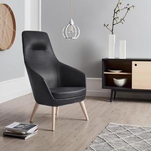 andas Stuhl »Rina«, mit Füßen aus massiver Esche, natur-oder wallnussfarben lackiert