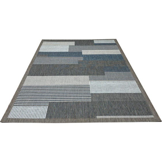 andas Teppich Jolka, rechteckig, 4 mm Höhe, In-und Putdoor geeignet, Wohnzimmer B/L: 160 cm x 230 cm, 1 St. blau Wohnzimmerteppiche Teppiche nach Räumen