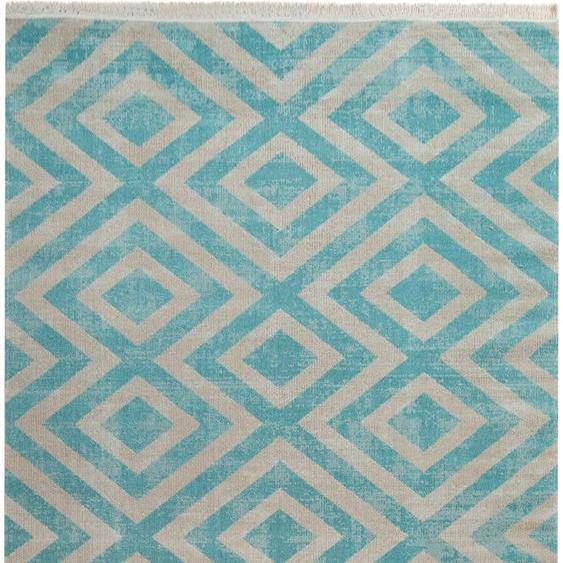andas Teppich Pocova, rechteckig, 7 mm Höhe, In- und Outdoor geeignet, Wohnzimmer B/L: 80 cm x 150 cm, 1 St. weiß Schlafzimmerteppiche Teppiche nach Räumen