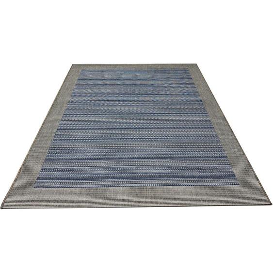 andas Teppich Sander, rechteckig, 4 mm Höhe, In-und Outdoor geeignet, Wohnzimmer B/L: 230 cm x 330 cm, 1 St. blau Schlafzimmerteppiche Teppiche nach Räumen